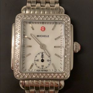 Michele Mid Diamond Deco Watch